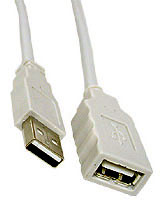 Cable: USB Extention Cable A - A receptacle, 1m
