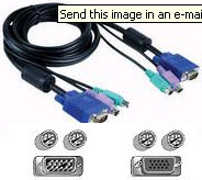 Cable: KVM 3in1 cable (M-F VGA/M-M PS/2), 10m