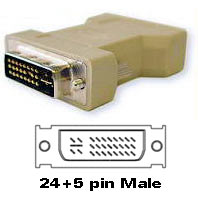 DVI-I Adapter 24+5pin Male to 24+5pin Male