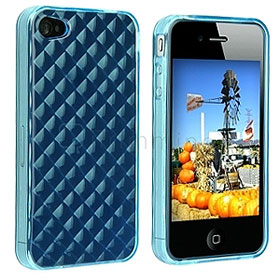 TPU Cover for iPhone 4 - Blue