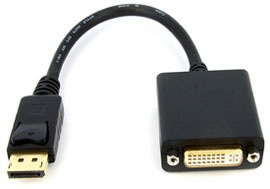 Converter: DisplayPort (Male) to DVI (Female) Cabl...