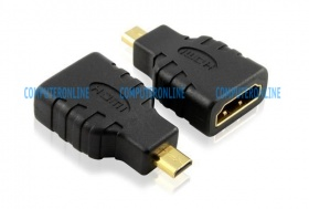 Converter: micro HDMI Male (Type D) - HDMI Female (Type A receptacle) adapter