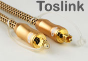 Toslink (S/PDIF) Optical Digital Audio Cable - O.D 6mm, Alloy Heads, Nylon Braided Sleeve, 3 meters