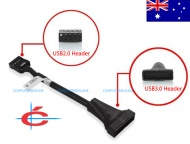 USB 3.0 Internal 20-pin  Male to Internal USB 2.0 Female Adapter Cable
