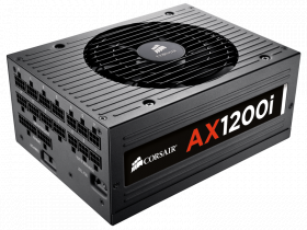1200W Corsair AX1200i 80 PLUS Platinum Certified ATX Power Supply - The World\'s First Enthusiast-Grade Digital ATX Power Supply