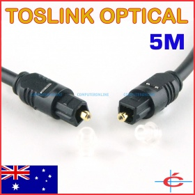 Toslink (S/PDIF) Optical Digital Audio Cable - O.D 4mm, 5 meters