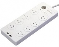 Huntkey 8 Outlet Surge Protected Powerboard with D...