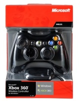 Microsoft WIRELESS XBOX 360 CONTROLLER - BLACK, [JR9-00012]