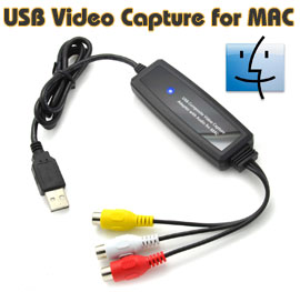 USB 2.0 Video & Audio Capture Adapter for Mac Computer, [AVC03M], Driver Free