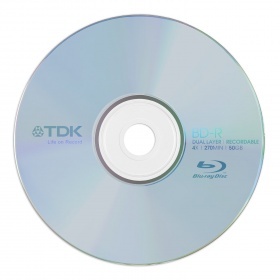 50GB TDK 4x Speed BD-R Blu-ray Double Layer Recordable Disk 1Pcs Jewel Case