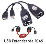 Cable: USB Extension Cable via RJ45 LAN Cable, USB...