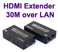 HDMI Extender over Cat-5e / Cat-6 LAN Cable, [T-50...