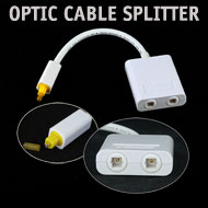 Toslink Optical Cable Splitter - 1 in 2 out, White