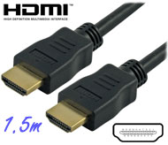 Cable: HDMI Male-Male cable, 1.5m, Ver 1.4