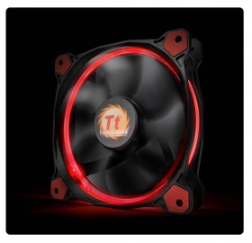 120mm ThermalTake Riing 12 Red LED 1500RPM Fan