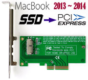 PCI Express PCIe Converter Card for Macbook Pro / Air 2013 ~ 2015 SSD