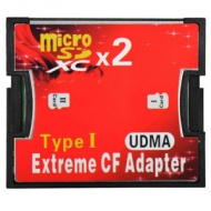 CompactFlash CF Card Adapter Dual Slot for micro SD / TF Memory Card, Type I