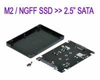 "M.2 / NGFF \'B\' Key SSD to 2.5"" SATA Hard Disk Box Case Enclosure"