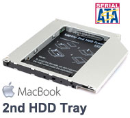 "2.5"" SATA Hard Drive Caddy Tray for MacBook adding 2nd HDD in Optical Drive Bay"