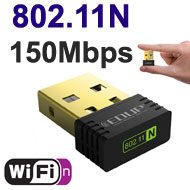 EDUP mini WiFi N 150Mbps USB Dongle, [EP-N8553], Ralink Chipset, Win / Mac / Linux