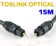 Toslink (S/PDIF) Optical Digital Audio Cable - O.D 4mm, 15 meters