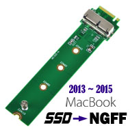 MacBook 2013~2015 SSD to M-key M.2 (NGFF) Converter
