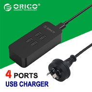 Orico 4-Port Smart Desktop Charger, [DCV-4U], 20W / 2.4A Max Each Port