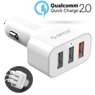 Orico 3-Port QC 2.0 Car Charger 35Wattes, [UCH-2U1...