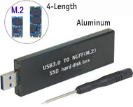 M.2 NGFF B Key SSD to USB 3.0 Enclosure External Case, [LM-711N], B or B+M key / Aluminium Body / 4 Lengths