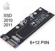 6 + 12 pins SSD Card to Standard SATA Converter for Macbook Air Year 2010 ~ 2011 model. [N-2011]