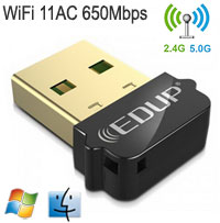 EDUP 11AC 600Mbps Dual-Band USB Adapter, [EP-AC161...