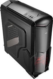 Aerocool Battlehawk-Black Mid Tower Case w/Window,2x12cm FAN,1xUSB3.0,2xUSB2.0,HD Audio,TF Reader