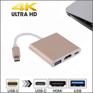 USB 3.1 Type C to 4K HDMI / USB 3.0 Type A / USB Type C Charging Ports