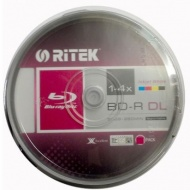 Ritek BLU-RAY BD-R DL 50GB 25 Pack, 1-4x Recordabl...