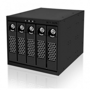 ICY BOX- IB-555SSK, 5bay Dual Channel SATA/SAS Bac...