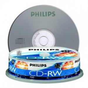 Philips CDRW 1X-12X 80 mins (Tube of 10)