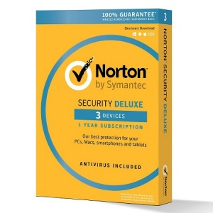 NORTON SECURITY DELUXE 3.0 AU 1 USER 3 DEVICE 12MO eLicence