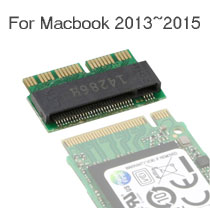 M Key M.2 / NGFF PCIe  AHCI to 12+16 Pin SSD Adapter for Macbook 2013~2015