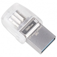 32GB Kingston DT microDuo 3C, USB 3.0/3.1 + Type-C...