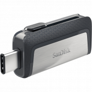 SanDisk Ultra Dual Drive USB Type C, SDDDC2 16GB, USB Type C, Blk, USB3.1/Type C reversible, Retractable, Type-C enabled Android, 5Y