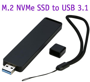 USB 3.1 Aluminium Enclosure case Box for M2 (NGFF) M key NVMe SSD up to 10Gbps