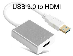 USB 3.0 to HDMI Converter with Audio for Windows OS, 1080P