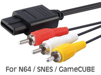 RCA AV Cable for Nintendo N64 / SNES / GameCube