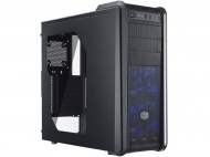 Coolermaster CM590 III Case, Side Window, Black Interior, 2x Blue LED, Support ATX/mATX/miniITX
